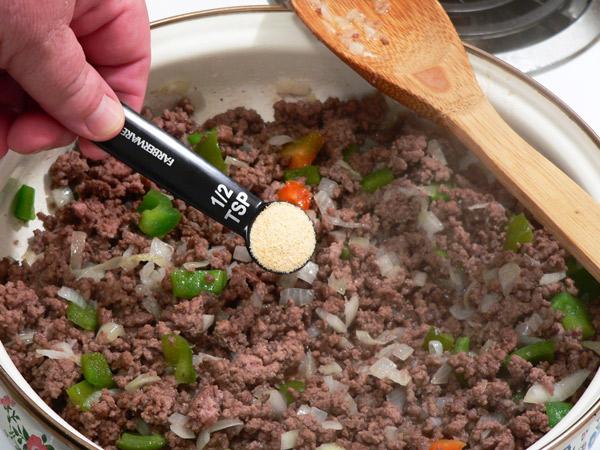 Add granulated garlic powder.