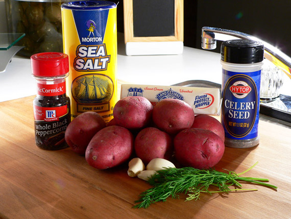 Ingredients you'll need for Garlic Dill New Potatoes