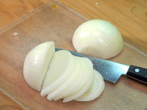 slice the onion