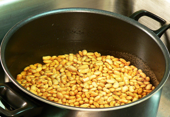 Let dry pinto beans soak overnight