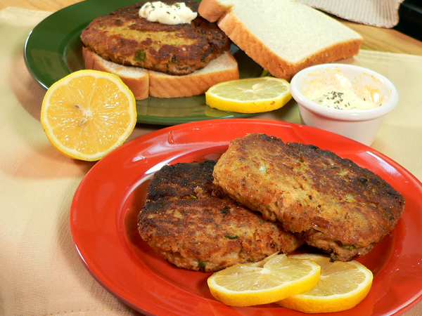 Salmon Patties serving