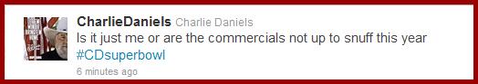 Charlie Daniels tweet