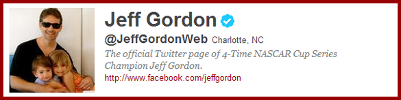 Jeff Gordon on Twitter