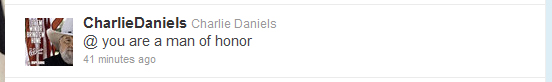 Charlie Daniels Super Bowl bet.