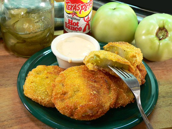 Fried Green Tomatoes ready to enjoy.