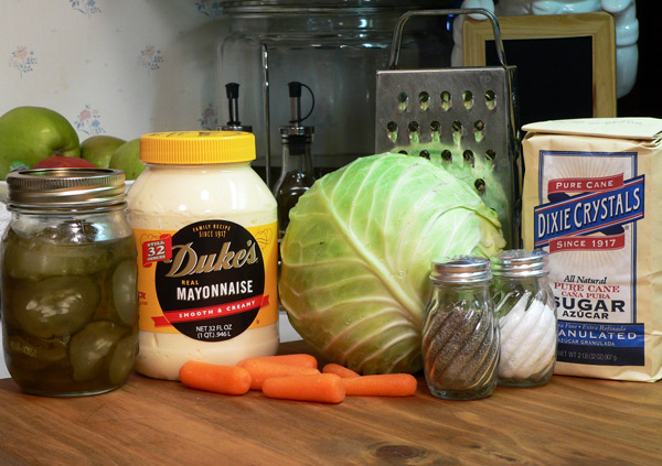 Creamy Cole Slaw Ingredients needed.