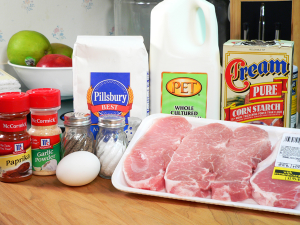 Fried Pork Chop ingredients