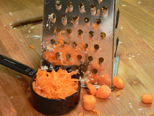 Grate a carrot for some color.