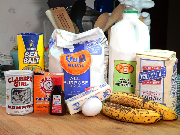 how to make banana bread with limited ingredients