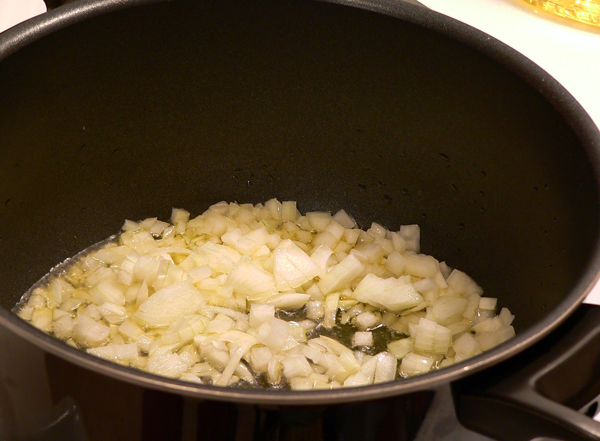 Toss in the diced onions.