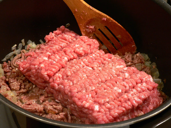 Add the pork.