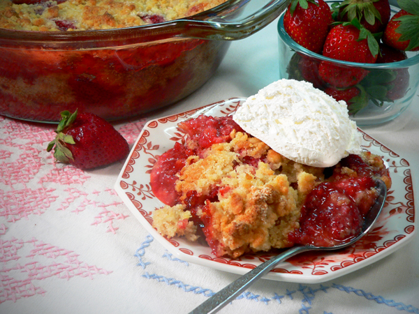 Strawberry Cobbler Serving
