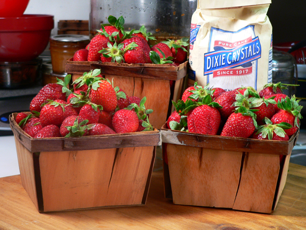 Freezing Strawberries, the ingredients you'll need.