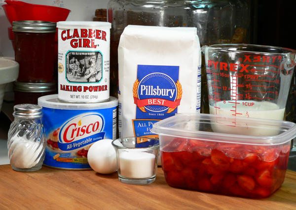 Strawberry Shortcake, ingredients.