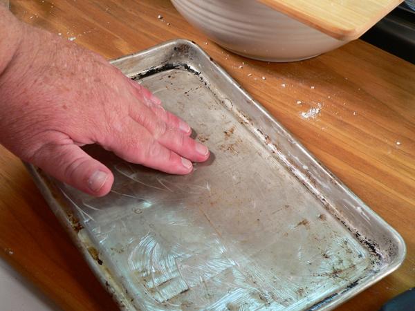 Strawberry Shortcake, grease a baking pan or sheet pan.