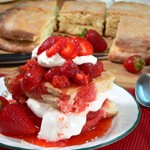 Strawberry Shortcake, 1928 rustic recipe.