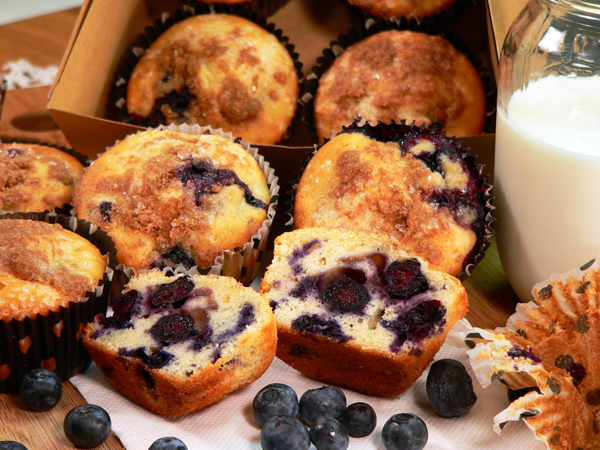 Blueberry Muffins, serve and Enjoy!