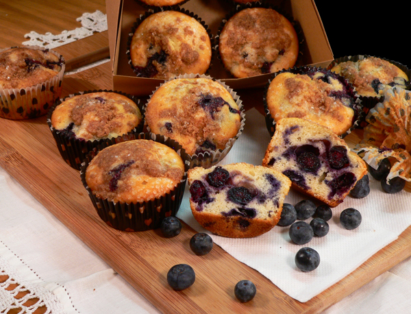 Blueberry Muffins, Serving