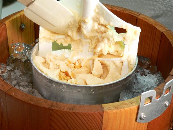Peach Preserve Ice Cream, remove the dasher.