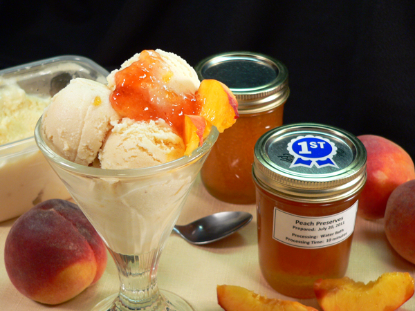 Peach Preserve Ice Cream, serve and enjoy.