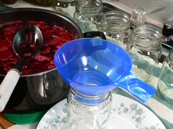 Pickled Beets, remove the pot from the stove.