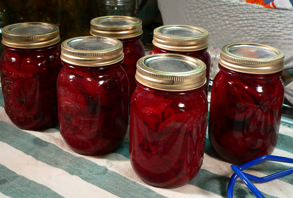 Pickled Beets, let sit overnight.