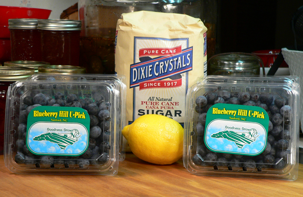 Blueberry Jam, Ingredients you'll need.