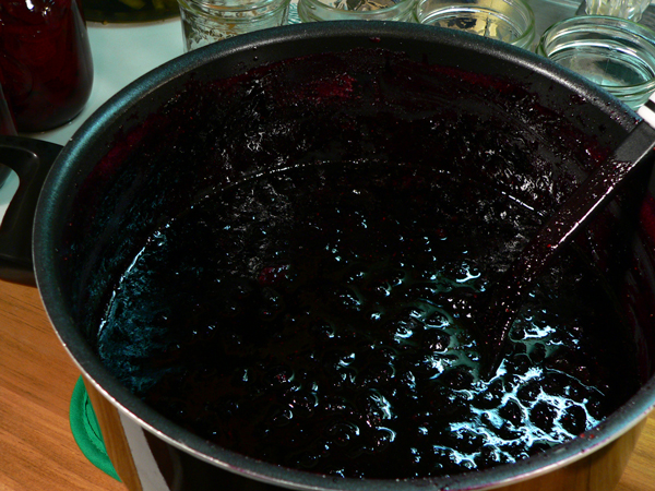 Blueberry Jam, remove from heat.