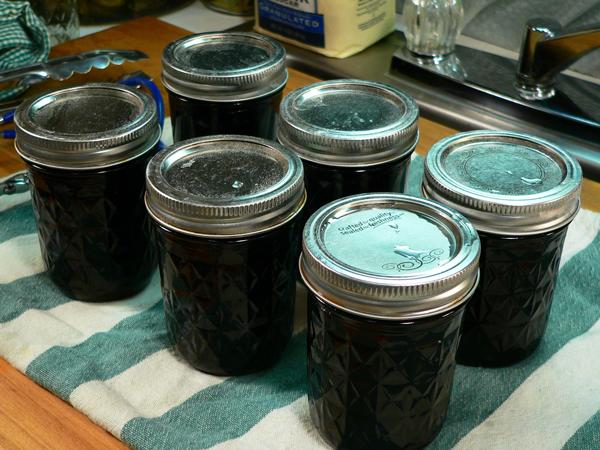 Blueberry Jam, let sit for 24 hours.