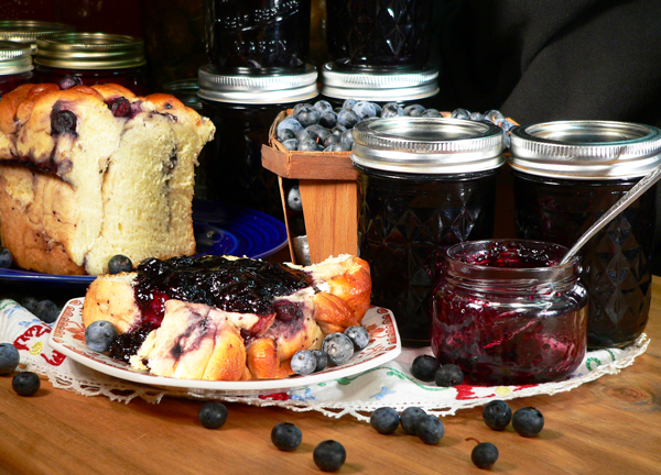 Blueberry Jam, serving.