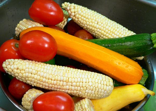 Roasted Vegetables, let them drain.