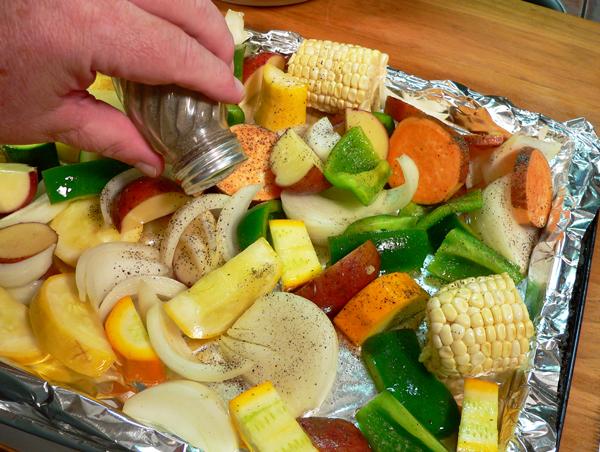 Roasted Vegetables, add some black pepper.