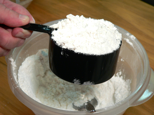 Basic Pie Crust, fill the cup to overflowing.
