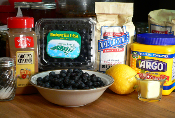 Blueberry Pie, Ingredients