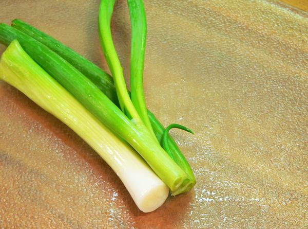 Fresh Field Peas, cut in half.
