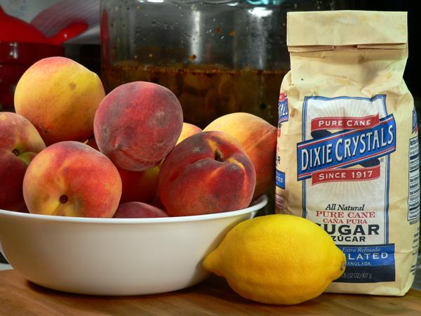Peach Jam, ingredients.