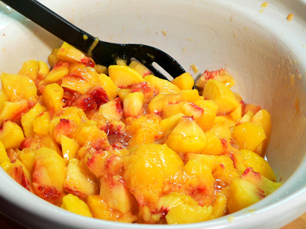 Peach Jam, stir it well.