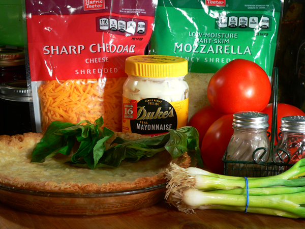Tomato Pie Recipe, ingredients.