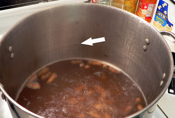 Boiled Peanuts, notice the water loss.