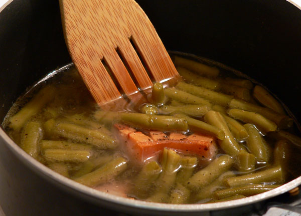 Southern Green Beans, give it a good stir.