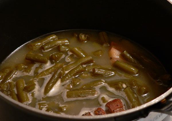 Southern Green Beans, cook until they reach the desired tenderness.