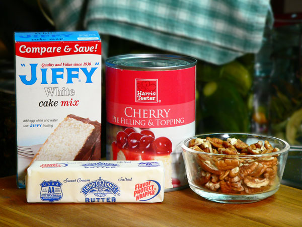 Quick Cherry Cobbler, ingredients.