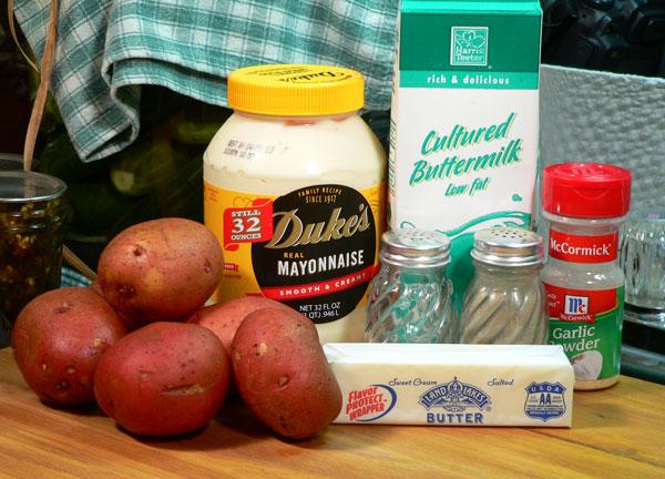 Red Skin Mashed Potatoes, ingredients.
