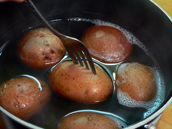 Red Skin Mashed Potatoes, cook until they are fork tender.