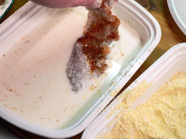 Bluefish Recipe, dredge in milk again if needed.