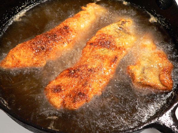 Bluefish Recipe, brown on both sides.