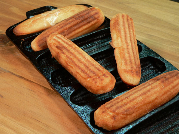 Southern Corn Sticks, serve warm and enjoy.
