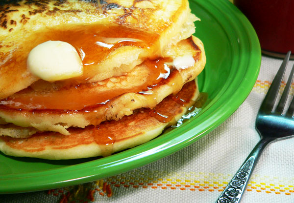 Buttermilk Pancakes Recipe, serve and enjoy.