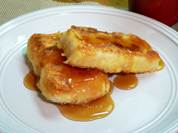 Southern Fried Grits, serve with syrup.
