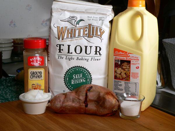 Sweet Potato Biscuits, ingredients.